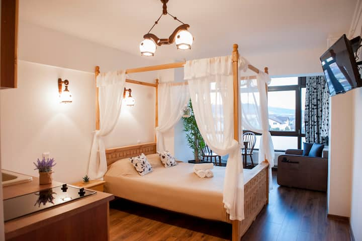 Romantic Cosy Studio w/ AC & Free Pkg - Lotus Apts