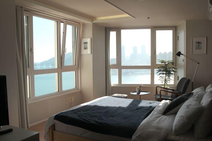 #09 [OPEN]광안리 오션뷰, 해변바로앞 OceanView /Beachfront - 부산광역시, KR - Apartament