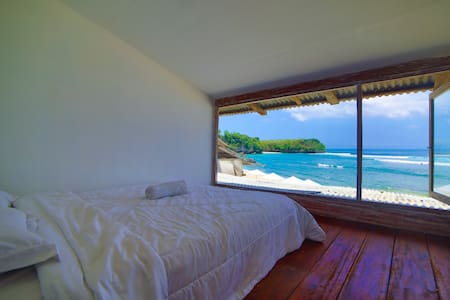 Beachfront Guesthouse Room 2 with Sunset view