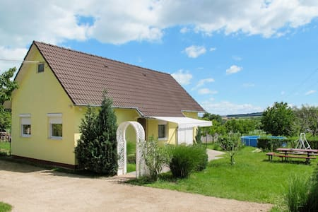 Holiday house with pool, garden and open views of meadows, fields and forests