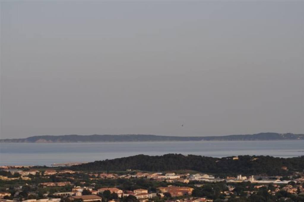 vue panoramique sur les iles d'or