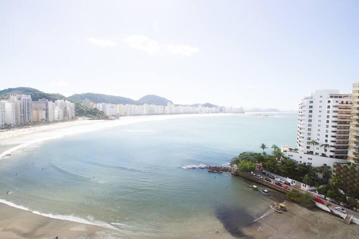 Vista para o mar da Varanda do apartamento