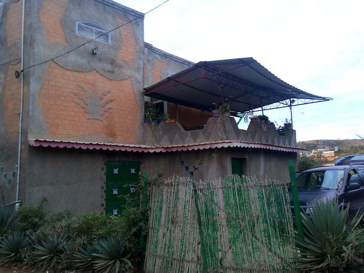 Artistic and traditional Malagasy house