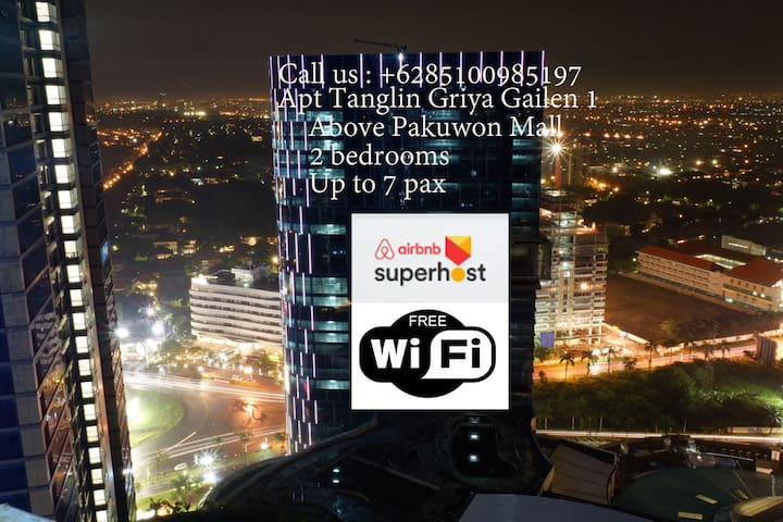 2BR Wifi+Cable TV(7pax) Tanglin@ Pakuwon Mall GG1