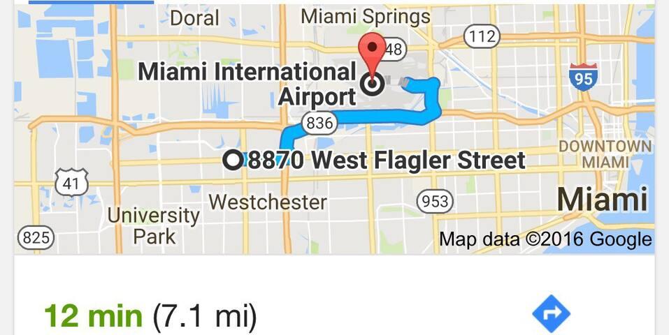 12 min MIA  room for Rent - Miami - Complexo de Casas