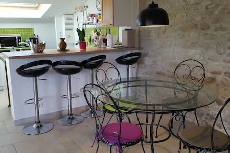 Spacious 3*studio in Breton cottage - Plobannalec-Lesconil - Hus