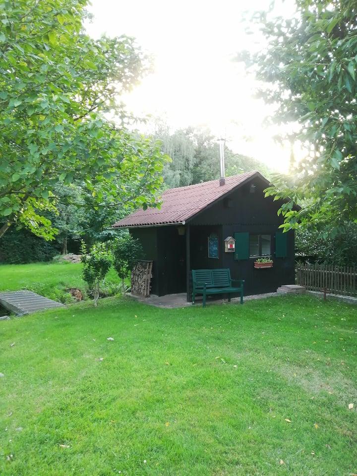 Hütte am Rande des Odenwalds