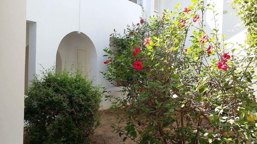 Un bel appartement à yesmine hammamet avec jardin