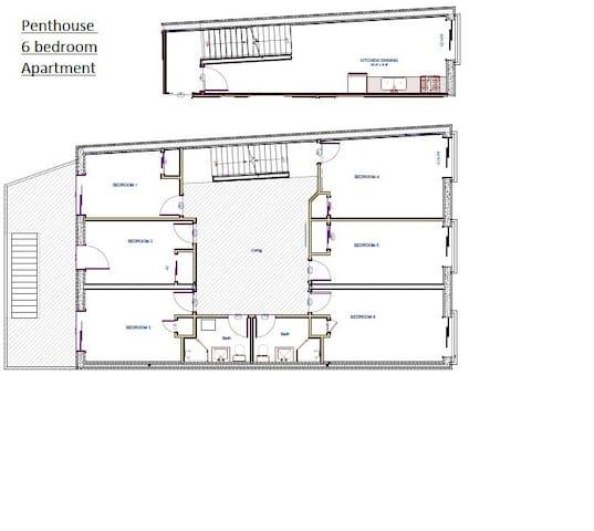 Penthouse Cathedral Ceiling Apartment - Kingston - Apartamento