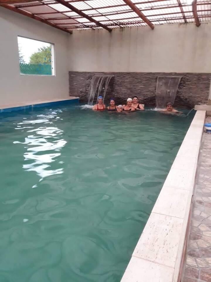 Cabañas Eluney con piscina climatizada