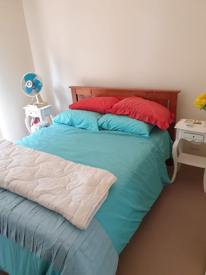 large room . double bed . private bath room