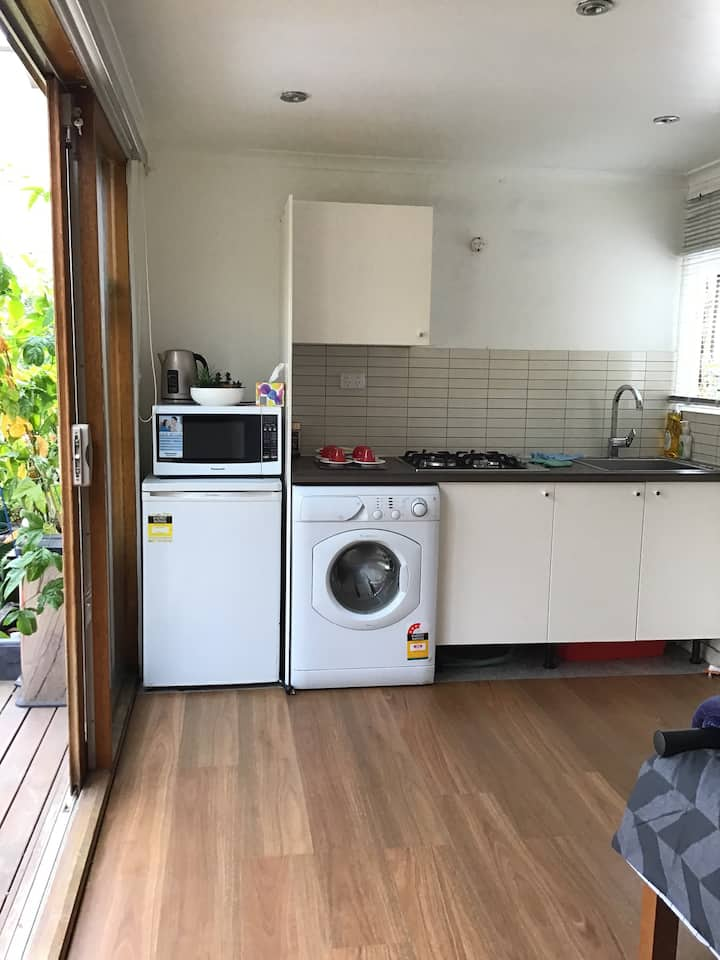 Studio Unit, private, close to tram, train, city