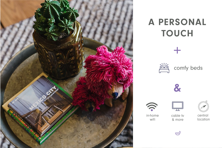 Personal touches to make you feel at home