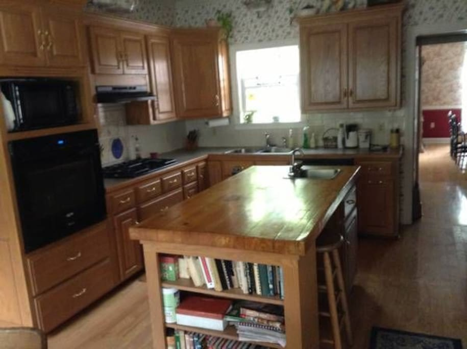 Kitchen - fully stocked and available for use.
