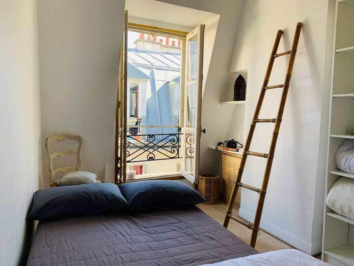 ☀ Studio Lumineux, Charme Parisien, Proche de tout