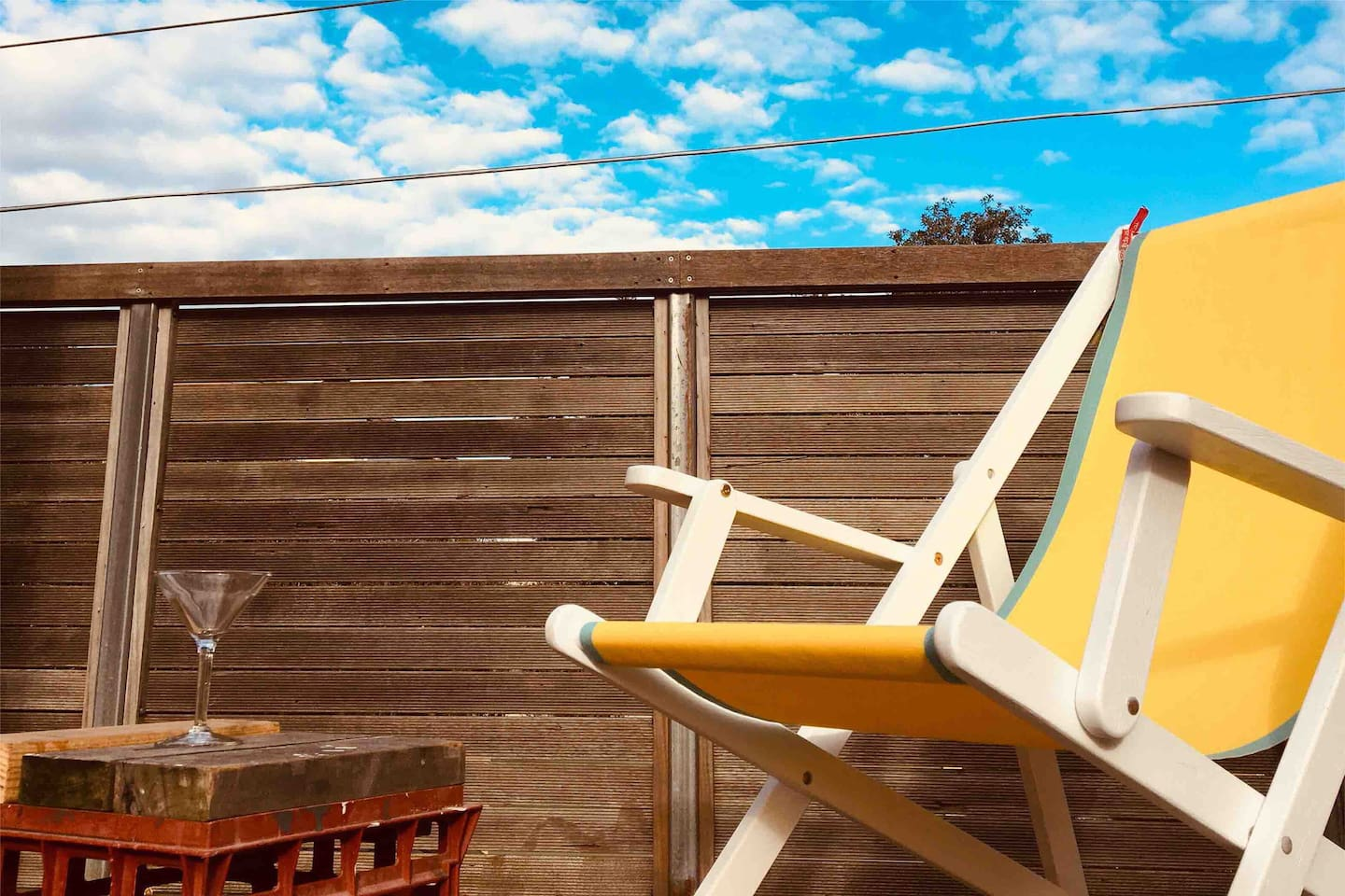 Relax in a deck chair on the private rooftop terrace.