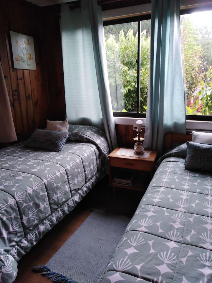 Habitación doble en hospedaje centrico