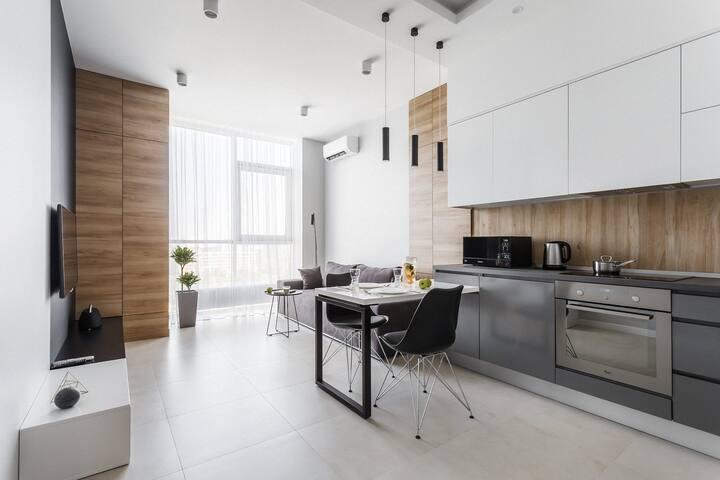 SEA MOOD / WOOD apartment in Arcadia