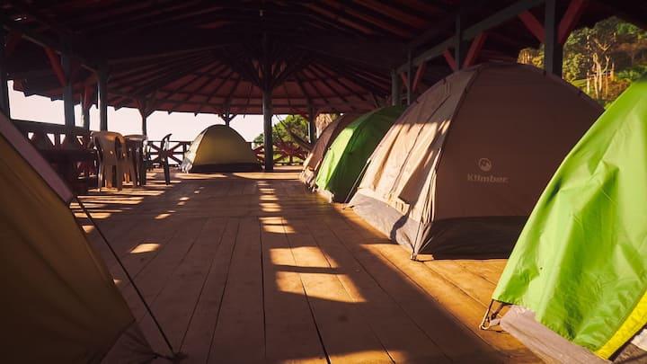 Campamento con la mejor vista al Valle del Cauca.