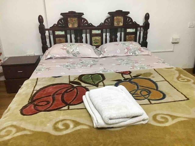 Room with attached bath at Vaishnov Devi Circle