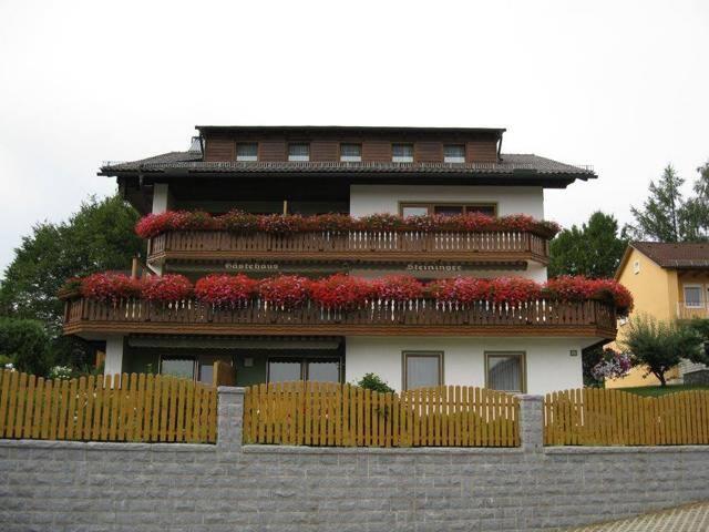 Gästehaus Steininger (Zwiesel), Doppelzimmer 1 (ca. 20qm) mit großem Balkon mit herrlicher Fernsicht