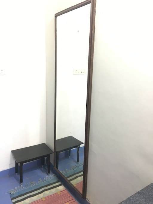 Dressing Room with full length mirror