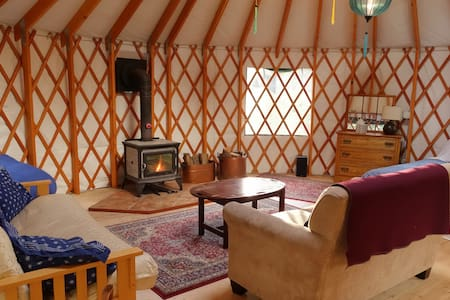 Private 4-Season Country Yurt Close to Town
