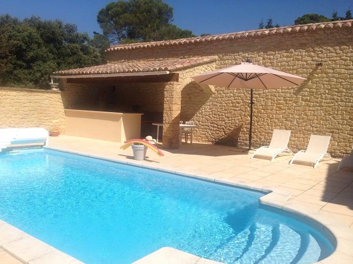 Villa et piscine en Provence