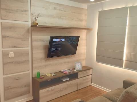 Ap em prédio familiar, com garagem. Wi-fi 200mb