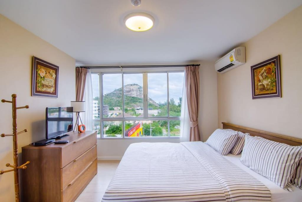 Spacious Master Bedroom featuring a king size bed with en-suite bathroom