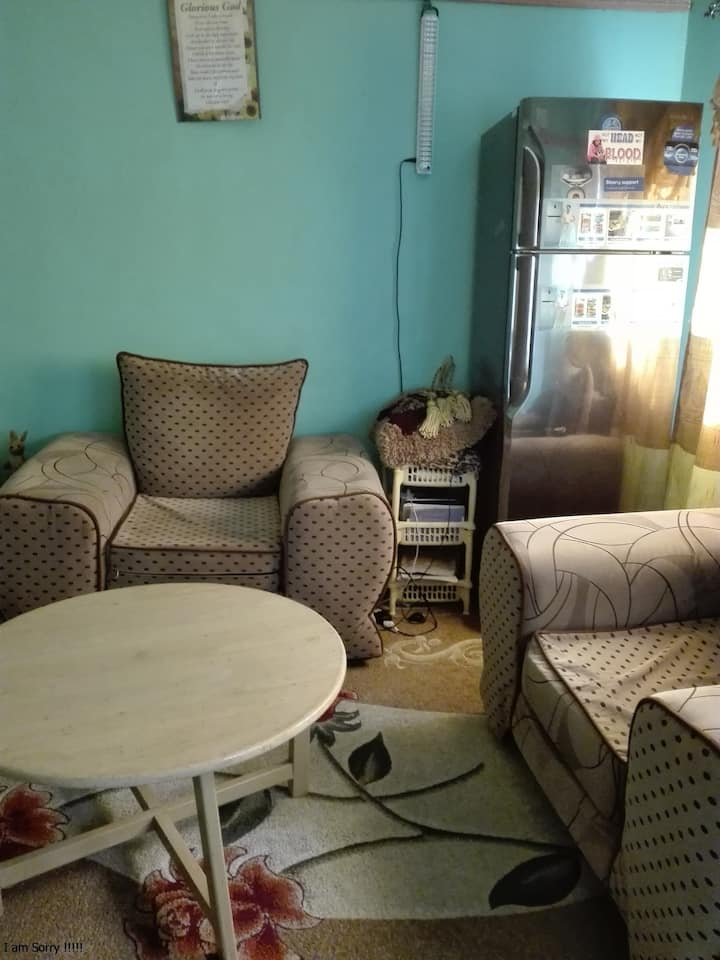 A two spacious bed-roomed house which is furnished