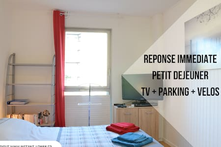 TV room + parking + breakfast + bikes + wifi - Thonon-les-Bains