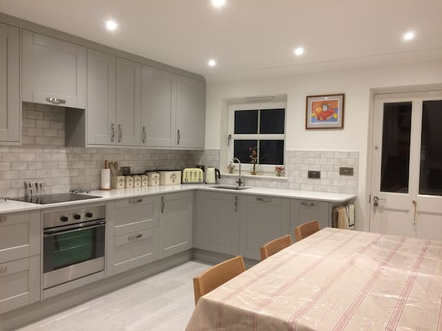 Family Holiday Home close to beach and village.