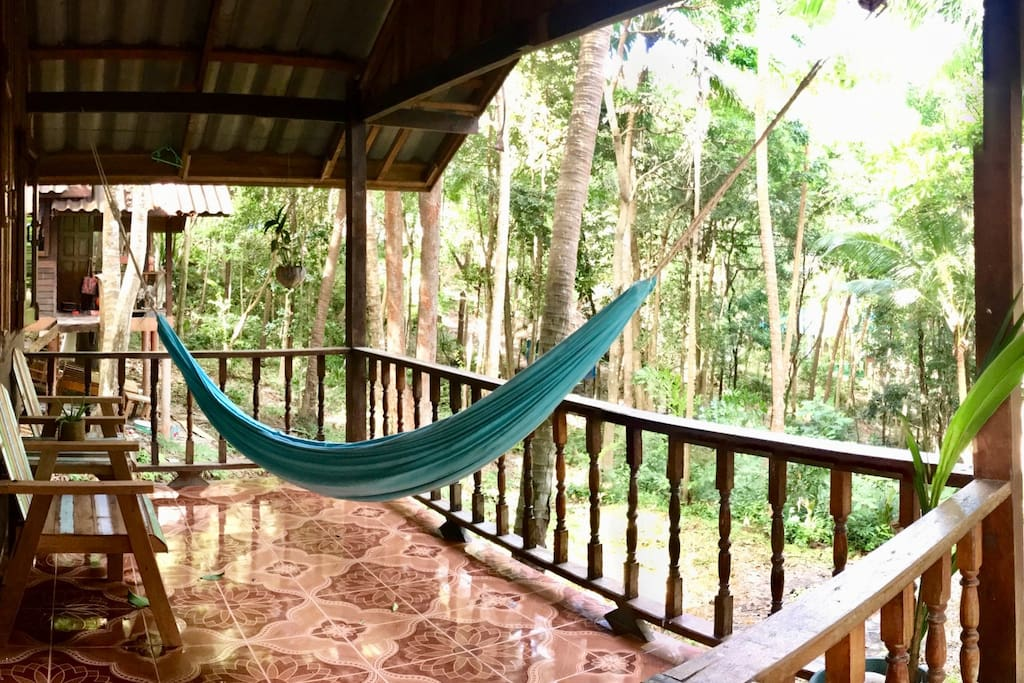 Realx in a hammock and listen to the jungle sounds