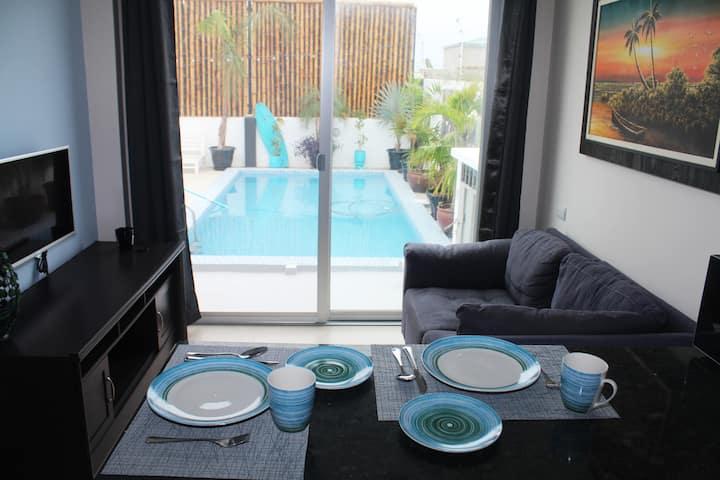 Ballenita The Blue Whale Luxury Suite Pool Access