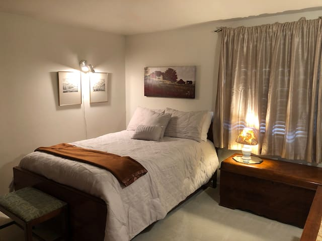 Master bedroom with full bed.