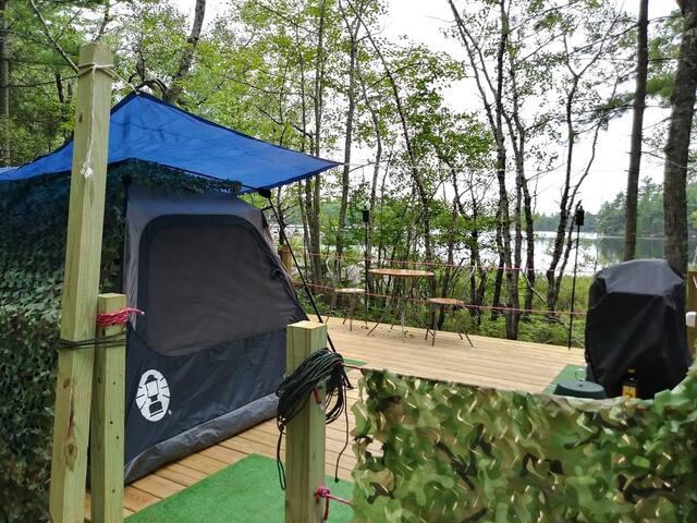 Hundred Acre Wood Camp Site Ambajejus Lake
