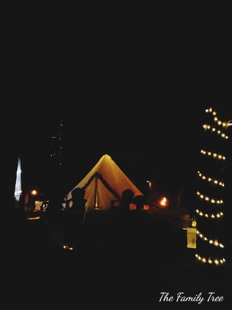 Oasis in the Wood! RUSTIC Tent under the Stars