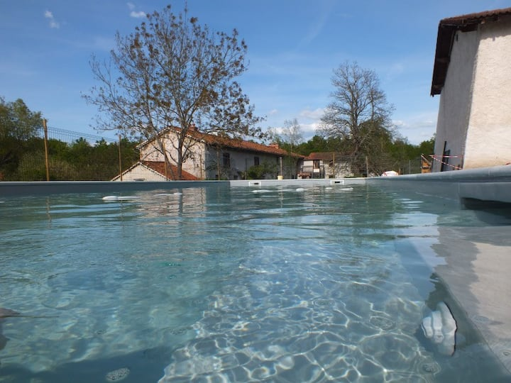 Gite handiaccessible 9p. + piscine handiaccessible