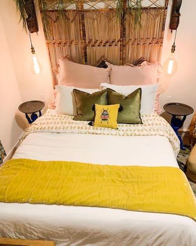 Queen sized memory foam bed