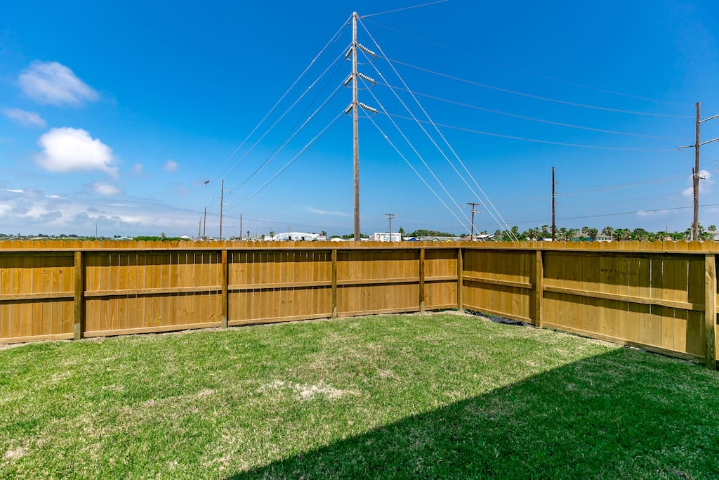 A large fenced-in yard is yours to enjoy.