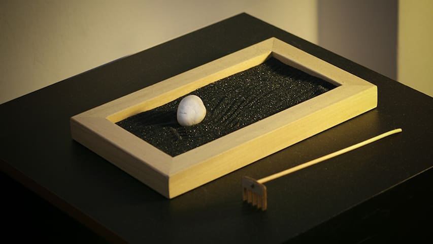 Miniature zen garden for your morning creative moment