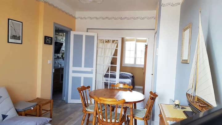 Appartement 2 pers  plein centre bourg st briac