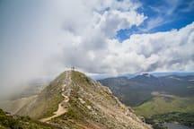Climbing Errigal - stunning views