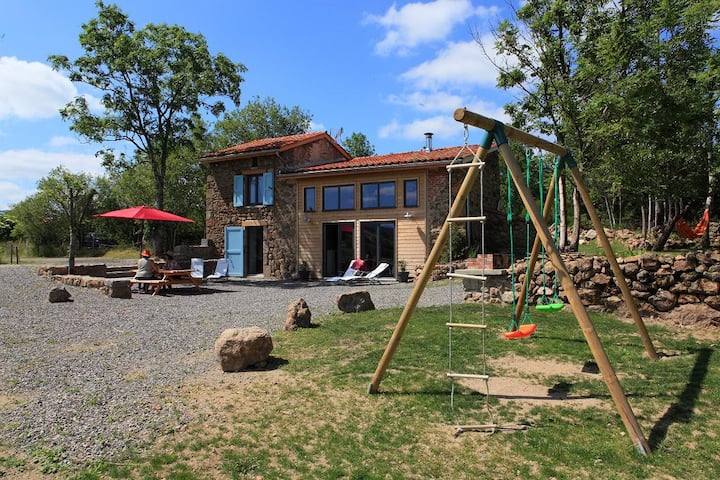 Gîte Contemporain NEUF : Sauna,Balnéo,four à pain