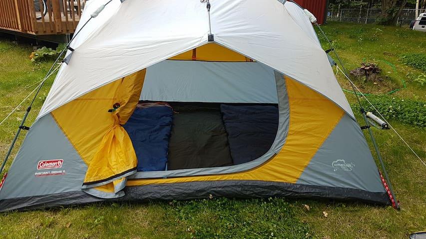 Clean, warm tent near Coastal Trail