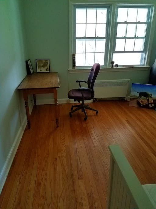 desk in place of cabinet