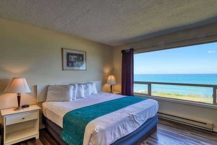 Gorgeous vacation rental w/ ocean views, shared pool, & hot tub - dog friendly!