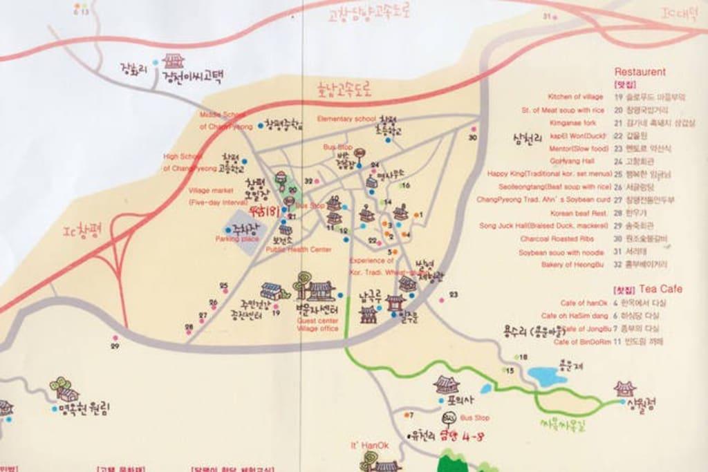 Map of Slow city 창평면 동산한옥길 71.