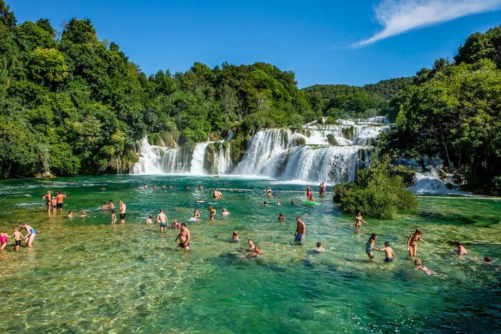 NATIONAL PARK - KRKA WATERFALLS - YOU CAN SWIM IN CRYSTAL CLEAR WATER